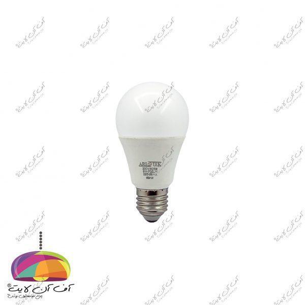 لامپ حبابی 9 وات آریو تک جلو