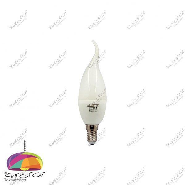 لامپ شمعی 6 وات آریو تک روبه رو