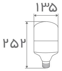 سایز لامپ حبابی استوانه ای افراتاب (1)