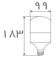 سایز لامپ حبابی استوانه ای افراتاب (2)