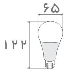 سایز لامپ حبابی افراتاب (3)