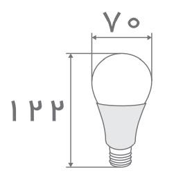 سایز لامپ حبابی افراتاب (4)