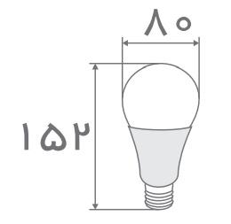 سایز لامپ حبابی افراتاب (5)