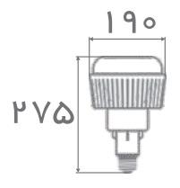 سایز لامپ حبابی سوله ای افراتاب (2)
