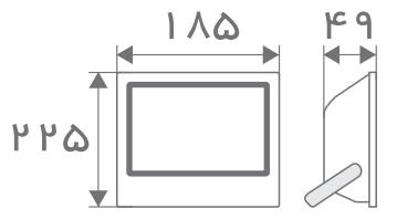 سایز پروژکتور مستطیل افراتاب (3)