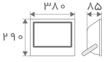 سایز پروژکتور مستطیل افراتاب (5)