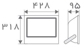 سایز پروژکتور مستطیل افراتاب (6)