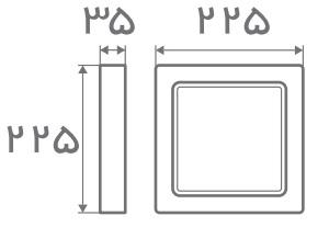 سایز پنل قفی روکار افراتاب (3)