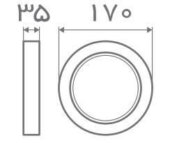 سایز پنل قفی روکار افراتاب (5)