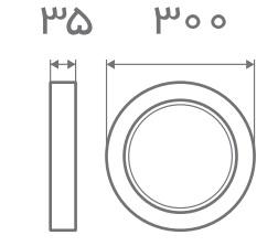 سایز پنل قفی روکار افراتاب (6)