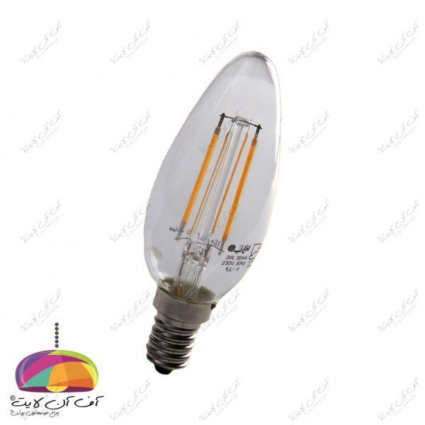 لامپ شمعی 4 وات فیلامنی افراتاب (2)