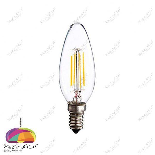 لامپ شمعی 4 وات فیلامنی افراتاب