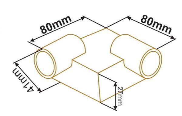 سایز دکوراتیو مربع دو طرفه لوله ای زمرد