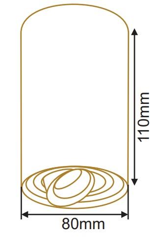 سایز چراغ سقفی روکار استوانه (1)