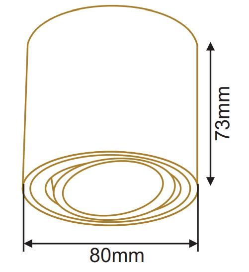 سایز چراغ سقفی روکار استوانه (2)
