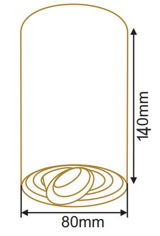 سایز چراغ سقفی روکار استوانه (3)