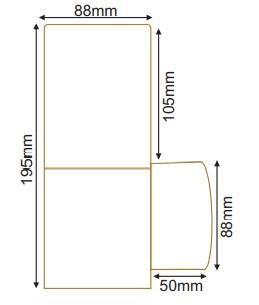 سایز چراغ پارکی مربع زمرد نور (3)