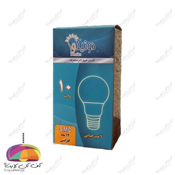 لامپ حبابی 10 وات دونیکو-1