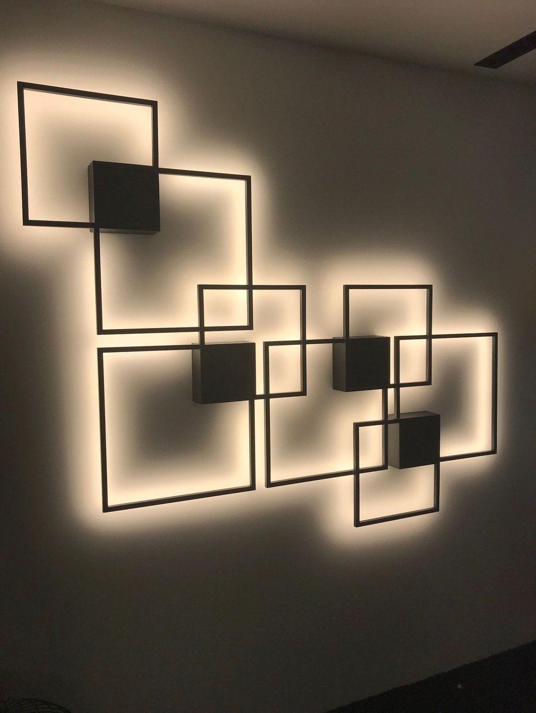طراحی روشنایی دیواری 3