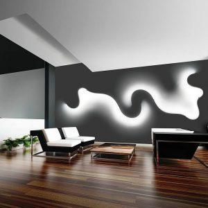 طراحی روشنایی دیواری