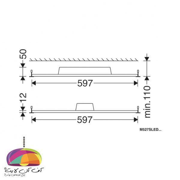 پنل توكار مربع لدیلوکس مازی نور (2)