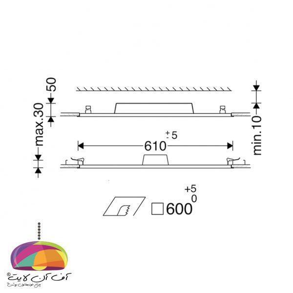 پنل توكار مربع لدیلوکس مازی نور (4)