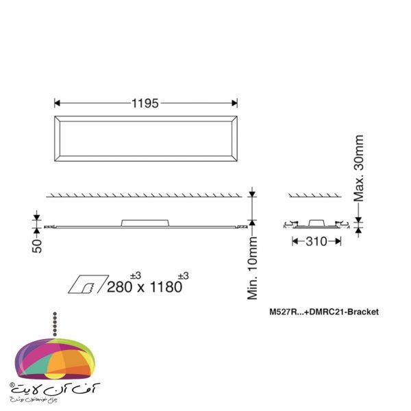 پنل توكار مستطیل لدیلوکس مازی نور (2)