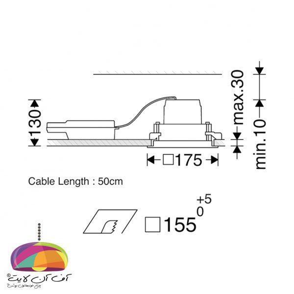 دانلايت توكار مدل اوربیتال تک خانه مازی نور (2)