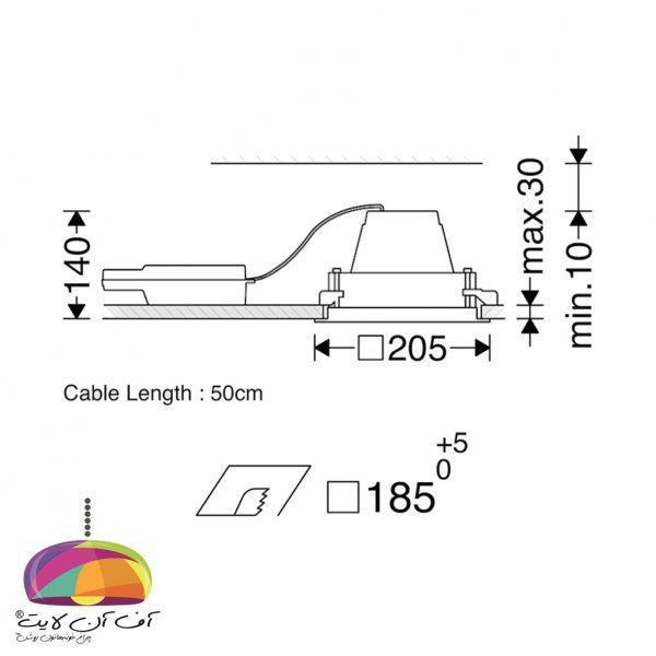 دانلايت توكار مدل اوربیتال تک خانه مازی نور (3)