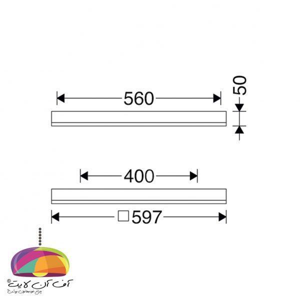 دانلايت روکار مربع اپتیلد مازی نور (2)