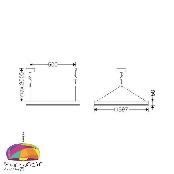 دانلايت روکار مربع اپتیلد مازی نور (3)