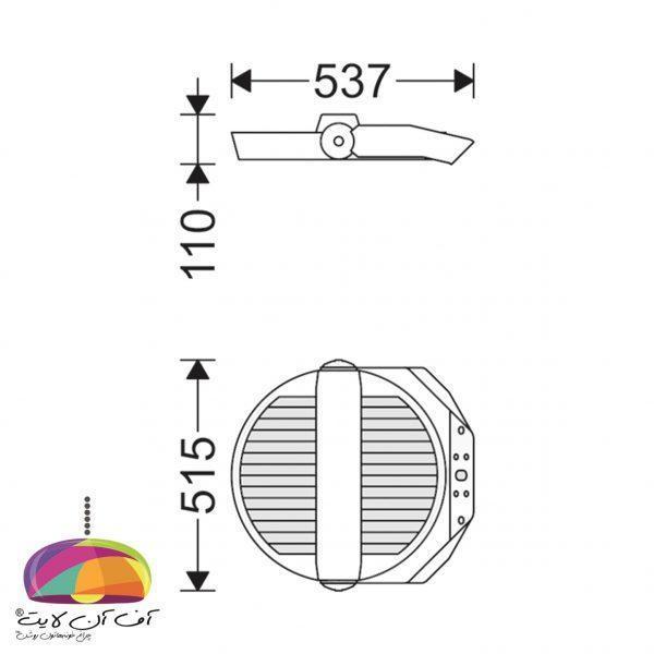 پروژکتور مدل ساترن مازی نور (3)