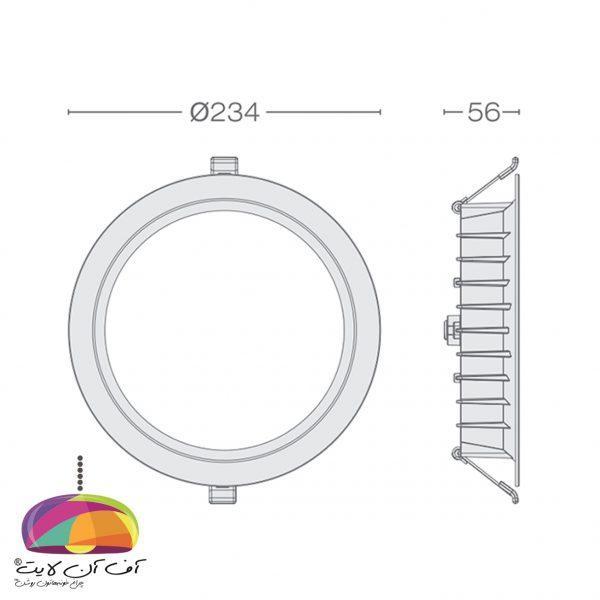 پنل توکار گرد مدل مارال گل نور (5)