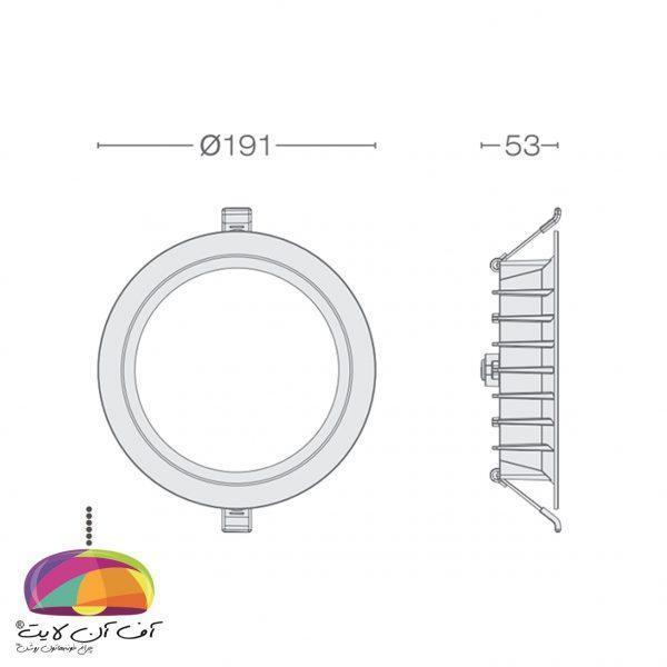 پنل توکار گرد مدل مارال گل نور (6)