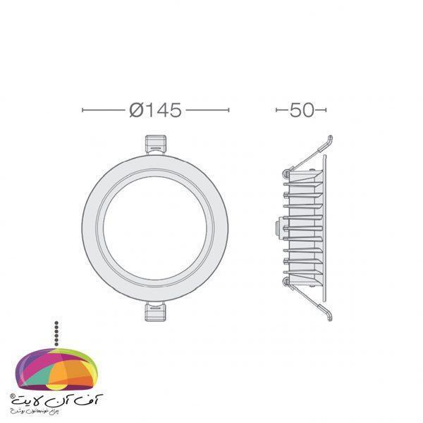 پنل توکار گرد مدل مارال گل نور (7)