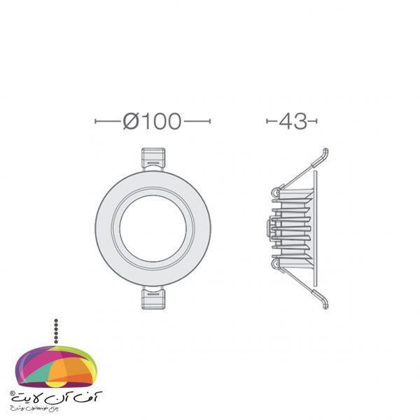پنل توکار گرد مدل مارال گل نور (8)