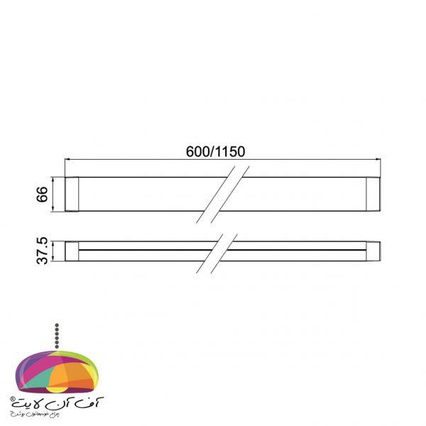 چراغ خطی روکار مدل تیانا گلنور (2)