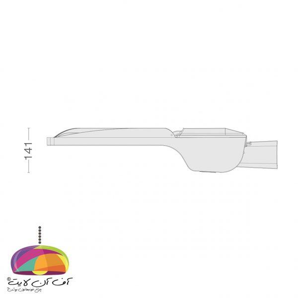 چراغ خیابانی سایز XL مدل ستاره گلنور (3)