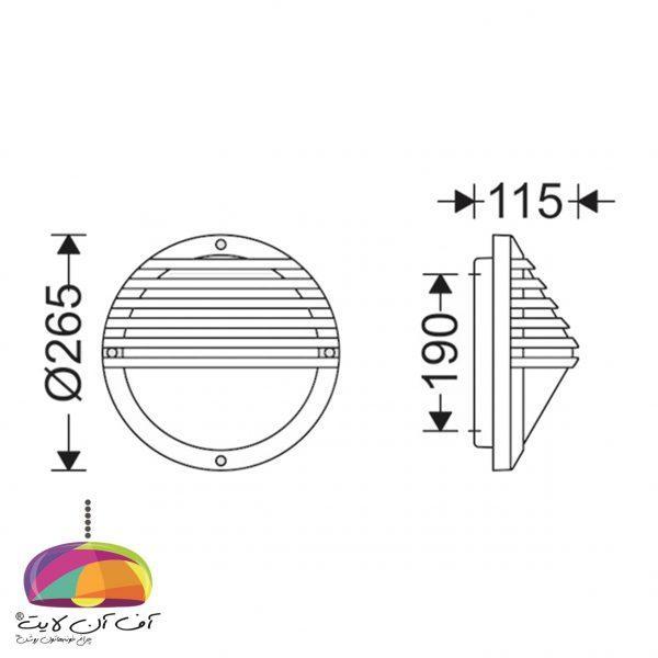 چراغ دیواری مدل کرونا مازی نور (2)