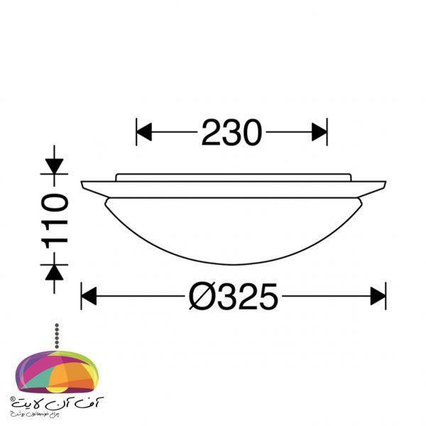 چراغ روکار پروتون مازی نور (4)