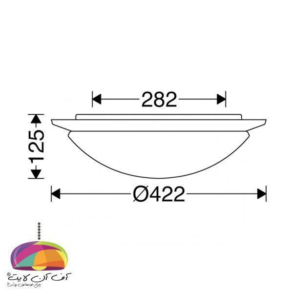 چراغ روکار پروتون مازی نور (5)