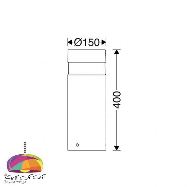چراغ پارکی ارتفاع 40 سانت مدل آبلد مازی نور (3)