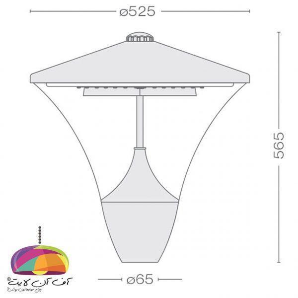 چراغ پارکی مدل یاقوت LED گلنور (2)
