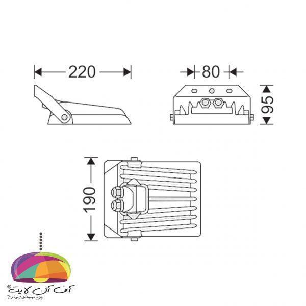 چراغ پروژكتوری مدل پلاریس (S) مازی نور (3)