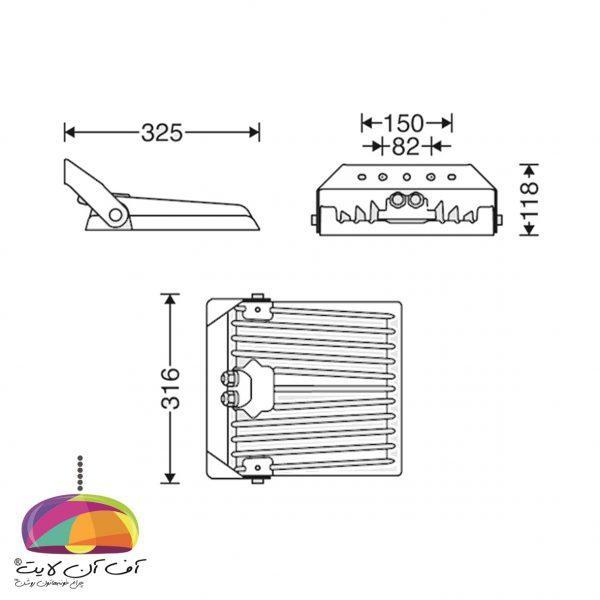 چراغ پروژكتوری مدل پلاریس (XL) مازی نور (3)