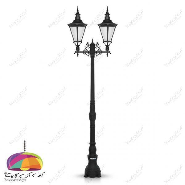 چراغ حیاطی پارکی مدل اسپانیایی شب تاب (5)
