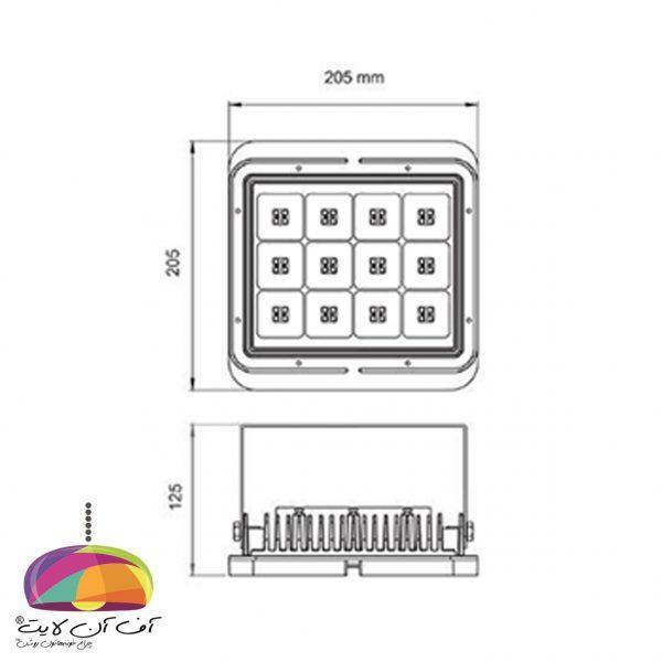 چراغ پروژکتور مدل آترا آلتون رای (2)